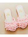 Fete Pantofi Mătase Primăvară Vară Confortabili Papuci & Flip-flops Pentru Casual Alb Roz Albastru Deschis
