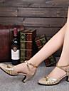 Pentru femei Sclipici Spumant Pantofi Moderni Despicare Toc Personalizat Personalizabili Auriu / Rosu / Interior / EU38