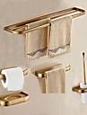 浴室用品セット アンティーク メタル 5個 - ホテルバス トイレットペーパーホルダー / タワーバー / 石鹸入れ 壁式