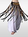 Belly Dance Hip Scarves Women\'s Training Polyester Sequined Metal Tassel Hip Scarf