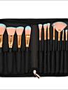 12pcs Professionnel Pinceaux a maquillage ensembles de brosses Poil Synthetique Couvrant Bois Visage