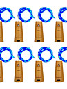 BRELONG® Ljusslingor 10 lysdioder Varmvit Vit Lila Grön Blå Vattentät <5V