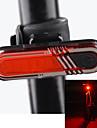 säkerhetslampor LED Cykelsport Uppladdningsbar Litium Batteri Lumen USB Röd Cykling Utomhus