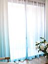 Hyls-topp Dubbel veckad Penn veck Fönster Behandling Moderna, Tryckt Enfärgad Damask Vardagsrum Polyesterblandning Material Skira
