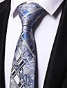 Bărbați Floral Toate Sezoanele Birou Casual Poliester,Cravată Albastru Deschis