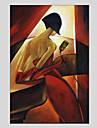 Peint a la main Personnage Moderne Un Panneau Toile Peinture a l\'huile Hang-peint For Decoration d\'interieur