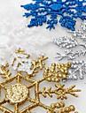 12 stks / zak kerstboom venster decoratie kunstmatige sneeuwvlok bauble bevroren party kerst ornamenten voor thuis xmas