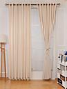 Stångficka Hyls-topp Hällor topp Dubbel veckad Fönster Behandling Formell Ledigt Moderna, Jacquard Enfärgad Sovrum Polyester Material