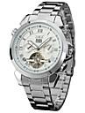 Bărbați Ceas de Mână Ceas Elegant  Ceas La Modă Ceas Casual Mecanism automat Calendar Oțel inoxidabil Bandă Casual Cool Argint