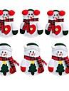 6pcs decor xmas decorare sac cina buzunar titular minunat om de zăpadă bucătărie tacamuri tacâmuri petrecere de Crăciun de masă