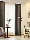 Rod Pocket Grommet Top Tab Top Double Pleat Curtain Formal Casual Modern, Jacquard Solid Bedroom Polyester Blend Material Curtains Drapes