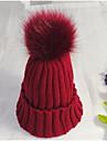 Unisex Solid Iarnă Vintage Draguț Petrecere Birou Casual Bumbac Îmbrăcăminte tricotată,Beanie/Slouchy Beretă Blană