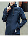 Bărbați Rotund Jachetă Casul/Zilnic Simplu,Mată Manșon Lung Iarnă-Regular Poliester