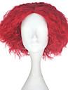 Perruque Synthetique Kinky Curly Rouge Homme Sans bonnet Perruque de carnaval Perruque Halloween Perruque de fete Perruque Lolita