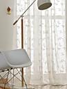 Stångficka Hyls-topp Hällor topp Dubbel veckad Penn veck Fönster Behandling Bohemisk, Broderi Damask Sovrum Polyesterblandning Material