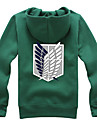 Inspired by Attack on Titan Eren Jager / Mikasa Ackermann / levi ackerman Anime Cosplay Costumes Cosplay Hoodies Print Long Sleeve Coat For Girls\'