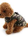 Hond Jassen Gilet Hondenkleding camouflage Blauw Roze camouflage kleur Katoen Kostuum Voor Husky Labrador Alaska malamute Lente & Herfst Winter Heren Dames Casual / Dagelijks