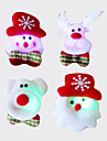 12pcs Moș Crăciun brosa brosa fulger tesatura luminos Crăciun decorare Crăciun cadou (stil aleatoriu)