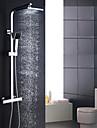 Modern/Contemporan Sistem de Duș Duș Ploaie Duș De Mână Inclus Termostatic Valvă Ceramică Două găuri Crom , Robinete de Duș