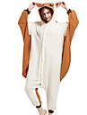 Veverita zburatoare / Veveriță / Mouse Pijama Întreagă Costume Lână polară Maro Cosplay Pentru Adulți Sleepwear Pentru Animale Desen