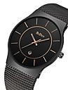 BIDEN Bărbați Ceas de Mână Japoneză Calendar / Rezistent la Apă Oțel inoxidabil Bandă Lux / Vintage / Casual Negru / Auriu