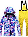 Snowy Owl Femme Veste et Pantalons de Ski Etanche Chaud Coupe Vent Ski Sports d\'hiver Polyester Ensemble de Vetements Tenue de Ski / Hiver