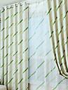 Margine cu inele de trecere Pliuri Triple Stil creion, cu pliuri Tratamentul fereastră Modern Bloc Culoare Sufragerie Poliester Blend