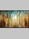 Hang-pictate pictură în ulei Pictat manual - Peisaj Simplu Modern pânză