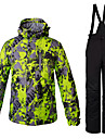 Herr Skidjacka och -byxor Varm Vindtät vattenbeständigt Skidåkning Camping Multisport Vintersport Backcountry Polyester 100 % bomull