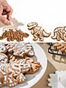 Pepparkaksformar Dinosaurie För Godis Kakor Tårta Kaka ABS GDS (Gör det själv) Födelsedag Kreativ 3D Bakning Verktyg