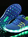 Băieți Pantofi Plasă / Țesătură Primăvară / Iarnă Confortabili / Pantofi Usori Adidași Bandă Magică / LED pentru Albastru / Roz / Negru /