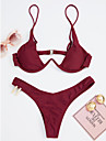 Pentru femei Bikini - De Bază, Mată Cu Bretele Tanga Τρίγωνο