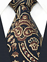 Toate Sezoanele Vintage Birou Casual Mătase,Cravată Negru