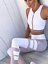 Dam Tights för jogging Mateial som andas Lättvikt Cykling Tights Yoga Motion & Fitness Löpning polyster Vit S M L