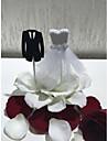 Vârfuri de Tort Nuntă de Mireasă Cuplu Clasic Hârtie de înaltă calitate Nuntă Petrecere cu Perlă Artificială Dantelă 1 OPP