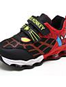 Băieți Pantofi Imitație de Piele Primăvară Toamnă Confortabili Adidași pentru Casual În aer liber Albastru Închis Negru/Roșu Bleumarin
