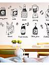 Mat & Dryck Mat Väggklistermärken Väggstickers i 3D Dekrativa Väggstickers, Papper Hem-dekoration vägg~~POS=TRUNC Vägg