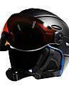 MOON Casque de Ski Unisexe Ski Sportif Ajustable One Piece EPS PC CE / 12 / Ultra léger (UL) / Casque avec lunettes