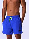 Bărbați Poliester Nailon Mată Modă Lenjerie Costume de Baie Sexy Albastru piscină Bleumarin Bleumarin