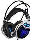 SADES R8 Headband Kabel Hörlurar Dynamisk Plast Spel Hörlur mikrofon headset