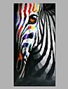 HANDMÅLAD Djur Popkonst Vertikal, Moderna Duk Hang målad oljemålning Hem-dekoration En panel