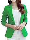 Pentru femei Rotund Blazer Muncă Simplu Casual,Imprimeu Mânecă Lungă Primăvară Toamnă-Lung