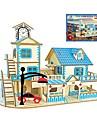 Puzzle Lemn Jucării Logice & Puzzle Arhitectură Modă Clasic Modă Model nou nivel profesional Focus Toy Stres și anxietate relief De lemn
