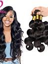 Cheveux Bresiliens Ondulation naturelle Tissages de cheveux humains / Extensions Naturelles 3 offres groupees 8-28pouce Tissages de