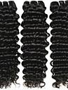 3 Связки Бразильские волосы Крупные кудри Не подвергавшиеся окрашиванию Человека ткет Волосы 8-28 дюймовый Ткет человеческих волос Расширения человеческих волос
