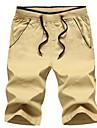 Bărbați Normal Șic Stradă Natural, Micro-elastic Pantaloni Scurți Pantaloni Poliester Mată Primăvară Vară