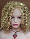 Syntetiska peruker Vågigt / Kinky Curly Blond Syntetiskt hår Blond Peruk Dam Korta Utan lock Blond