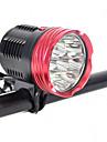 Pannlampor Cykellyktor Framlykta till cykel LED LED Cykelsport Professionell Anti-Stöt Slitsäker 18000 Lumen DC48V Naturlig vit