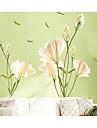 Abstrakt Blommig/Botanisk Väggklistermärken Väggstickers Flygplan Dekrativa Väggstickers, Papper Hem-dekoration vägg~~POS=TRUNC Vägg