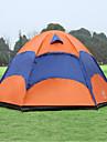 Sheng yuan 4 Personen Zelt Aussen Wasserdicht Atmungsaktivitaet UV-bestaendig Doppellagig Stange Dom Camping Zelt 1500-2000 mm fuer Wandern Camping Polyester Oxford 240*240*135 cm